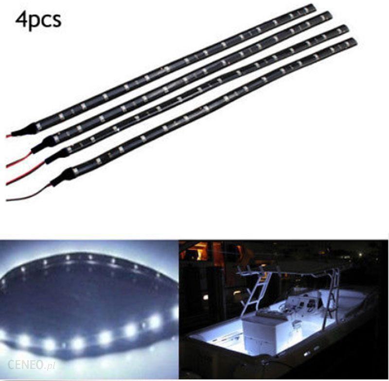 Aliexpress 4x Biały Led 1 Ft Głębinowa światła Nawigacyjne Taśmy Wodoodporne Marine Boat 12 V Pokładu łodzi Uprzejmości łuk Ponton żarówki Ceneopl