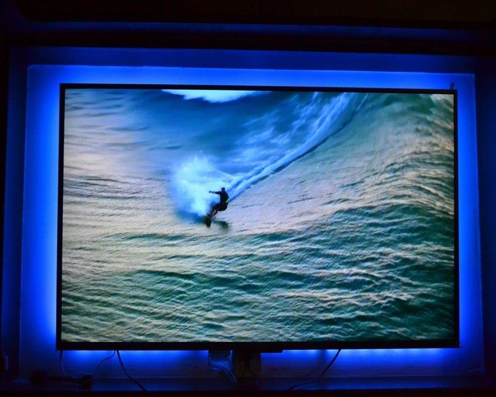 Aliexpress Rgb Led Tv Podświetlenie Usb Powered Led Tv Strip światła 5050 Kina Domowego Oświetlenia Dla 32 Do 65 Płaski Telewizor Z Ir Zdalnego Ster