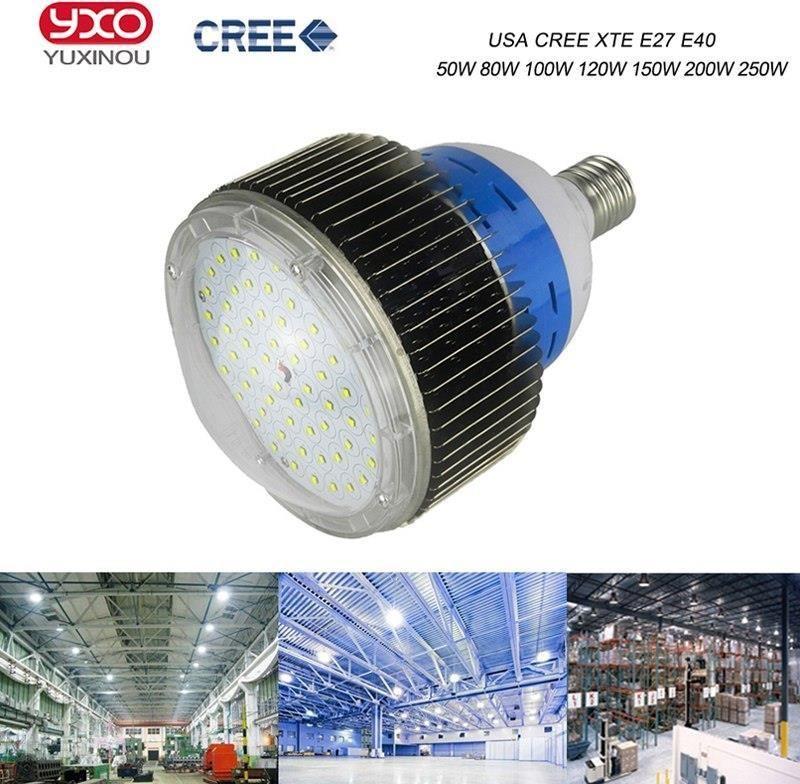 Aliexpress 100 W 150 W 200 W 300 W Oświetlenie Led High Bay Led Przemysłowe Maszyny Lampa Led Lampa Cree Stacji Benzynowej światła Do Szycia Do Szycia