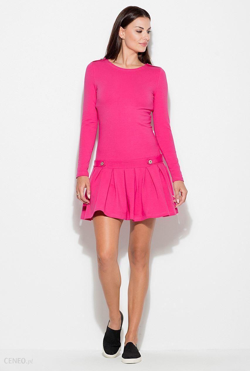 31de939ee6 KATRUS Sukienka K267 Fuksja różowy - Ceny i opinie - Ceneo.pl
