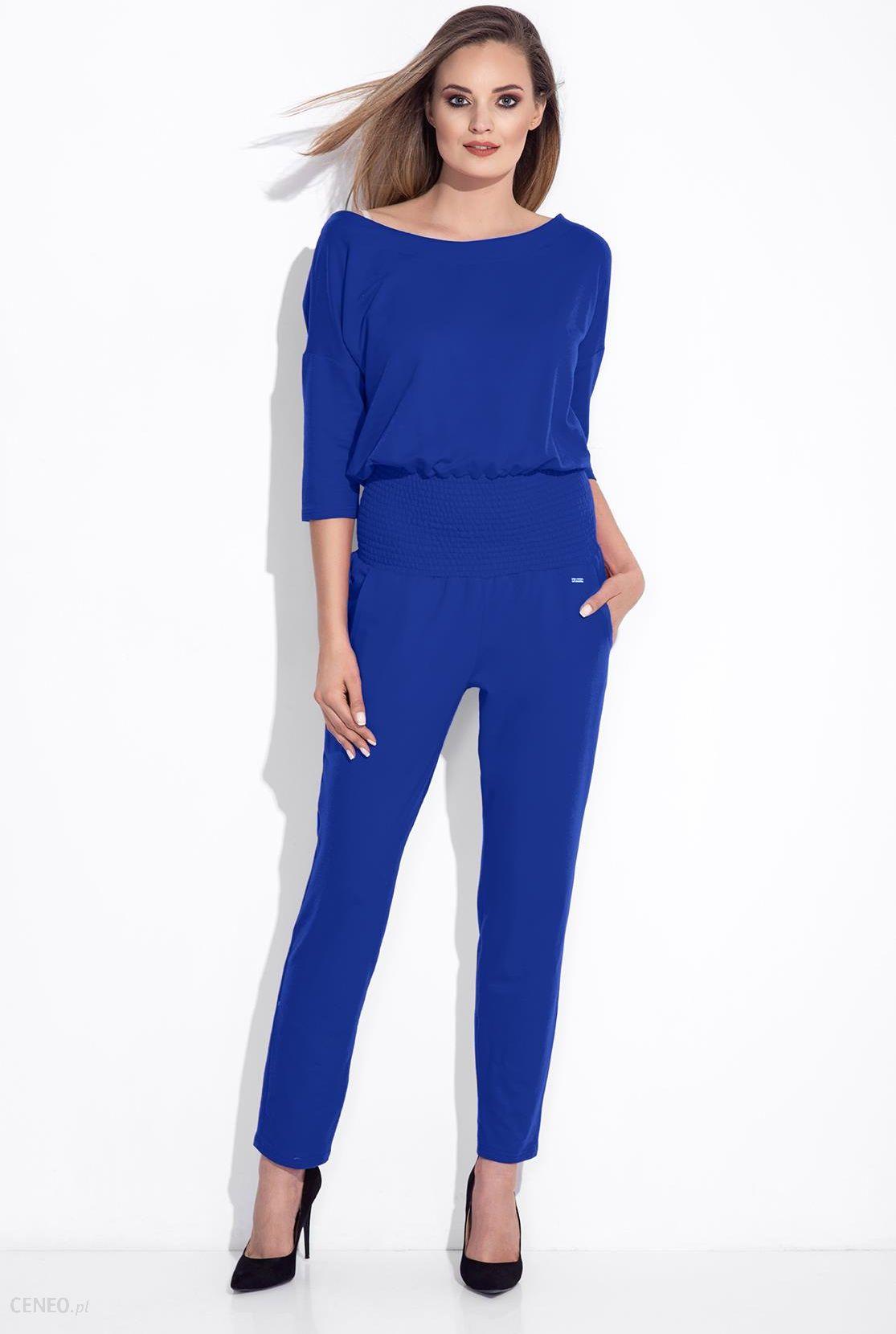 b35b5a4809 Bien Fashion Chabrowy wizytowy kombinezon damski niebieski - Ceny i ...