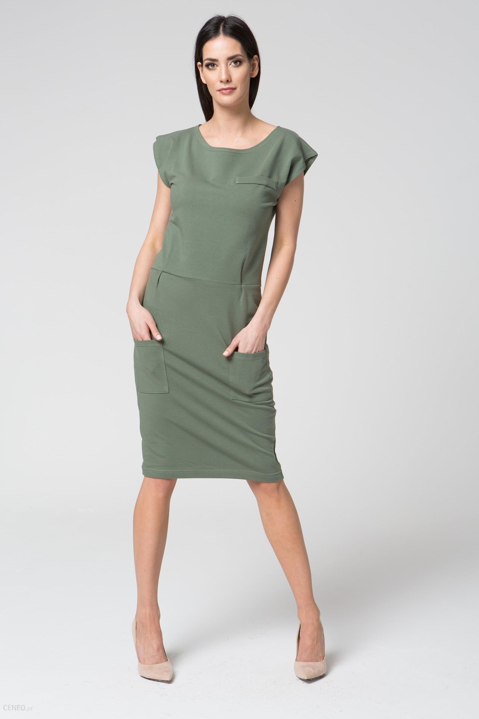 17907ee1c1 Mosali Mosali - Sukienka Dresowa Bez Rękawów M018 zielony - Ceny i ...