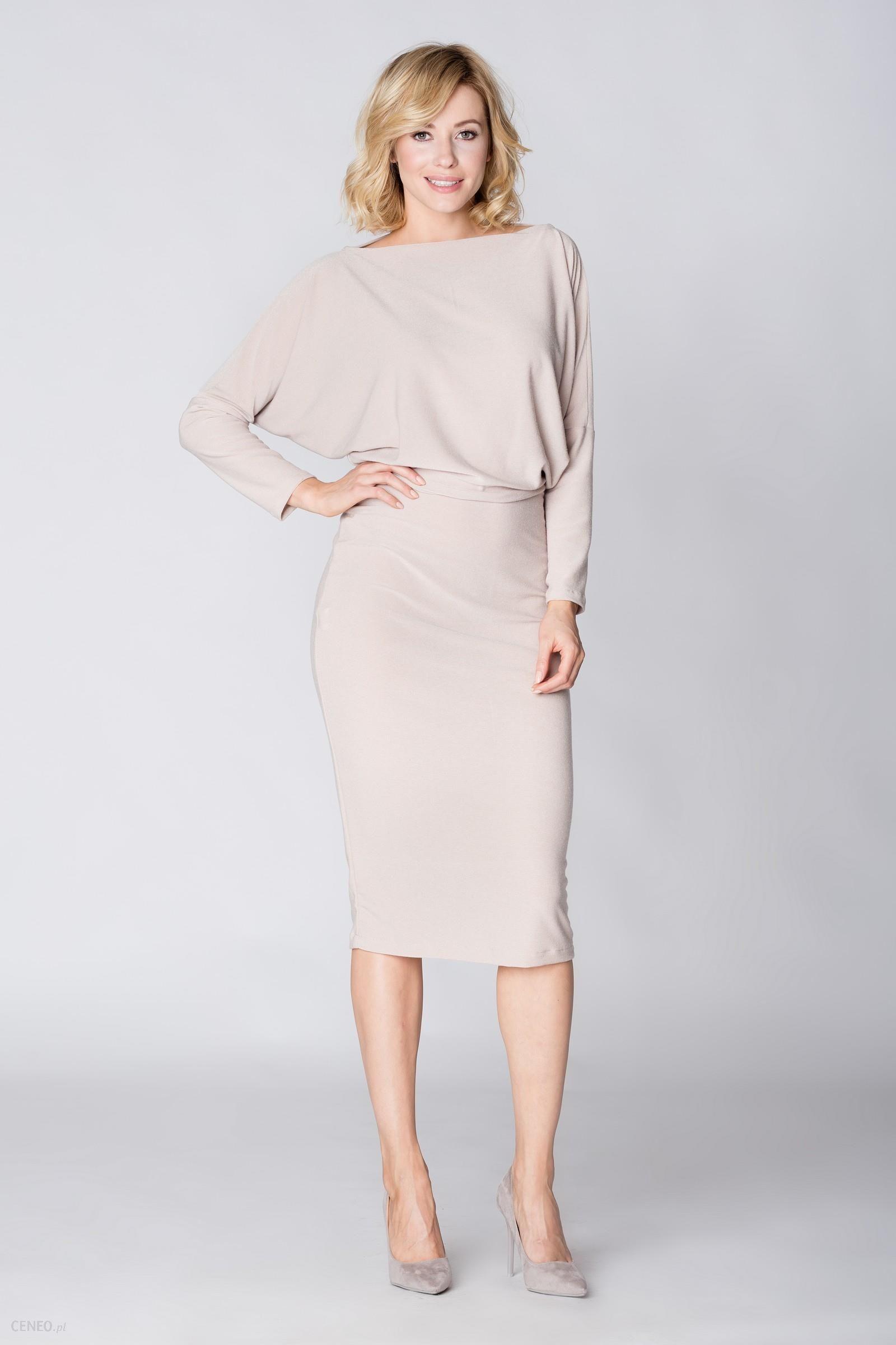 87a28962bf Mosali Mosali - Dzianinowa Sukienka M052 beżowy - Ceny i opinie ...