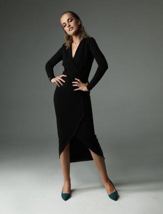 bd75cc0e5a Sukienka dresowa D-120 Black - Ceny i opinie - Ceneo.pl