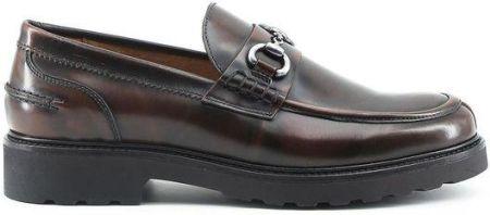 8971a1af8088d Made in Italia skórzane buty męskie mkoasyny brązowy 40