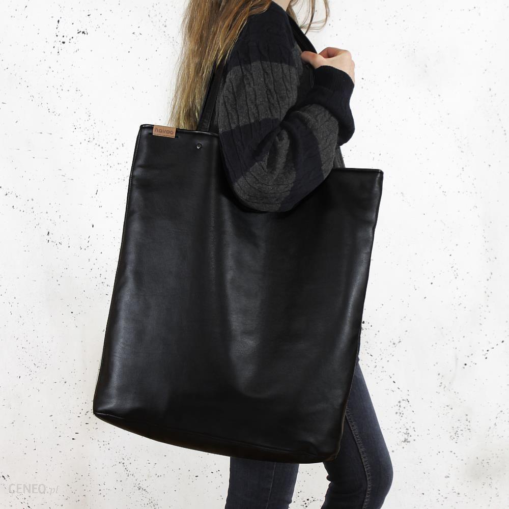 81f6288b Hairoo Mega Shopper bag czarna torba oversize Vegan czarny - Ceny i opinie  - Ceneo.pl
