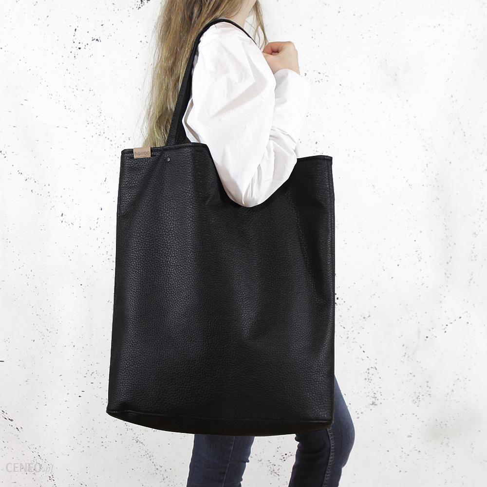 c623adf9 Hairoo Mega Shopper bag czarna teksturowana torba oversize Vegan czarny -  Ceny i opinie - Ceneo.pl