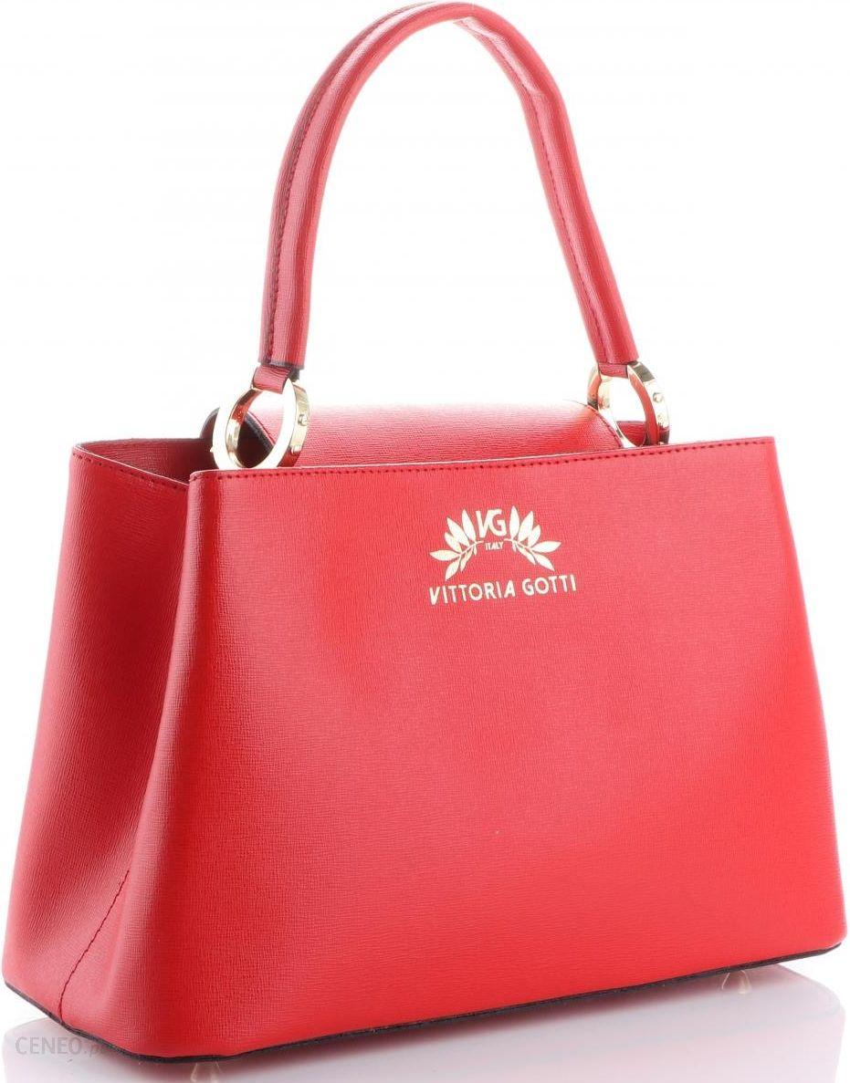 1377b44383d1e Torebki Skórzane firmowy Elegancki Kuferek Vittoria Gotti Made in Italy  Czerwone (kolory) - zdjęcie