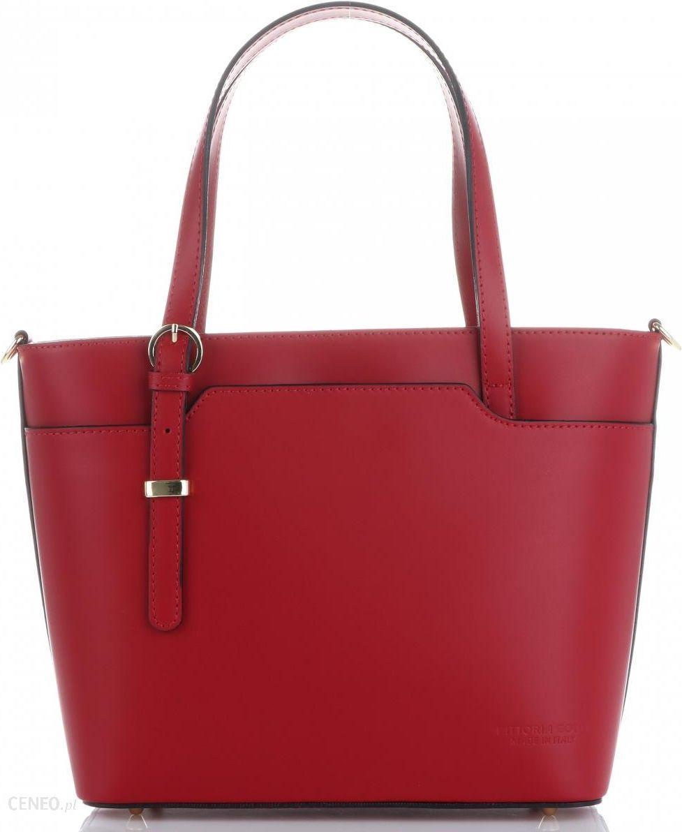 e5de23807fc25 Eleganckie i Klasyczne Torebki Skórzane Włoskiej firmy Vittoria Gotti  Czerwone (kolory) - zdjęcie 1