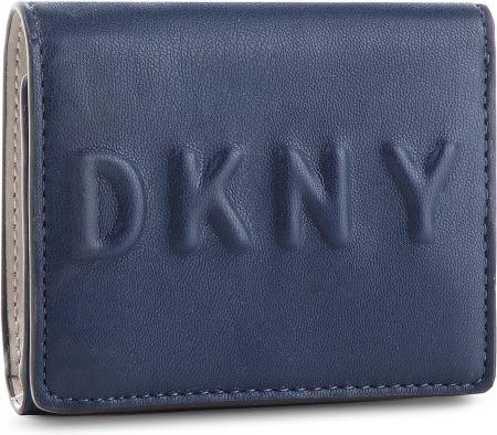 c52fcdc9c2ec2 Mały Portfel Damski DKNY - Tilly Trifold Wallet R741V100 Navy NVY eobuwie