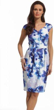 1edabf1b56 107-1 TUBA - sukienka z grubej lacosty - KORALOWA - Ceny i opinie ...