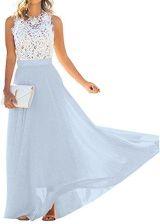 9569e15038 Amazon Minetom damska elegancka sukienka maxi bez rękawów sukienka balowa  sukienka koktajlowa sukienka na imprezy linia