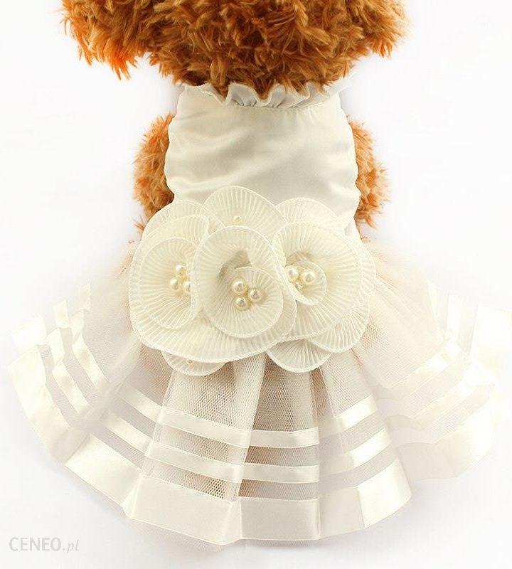 3a847c4916 AliExpress Armi sklep Pearl Kwiat Ozdoby Dog Dress Suknie Ślubne Dla Psów  6073008 Pet Spódnica Kostium