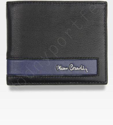 6af3a494669fe Męski portfel prawdziwa skóra Blue Mirror Pierre Cardin Tilak26 8824 RFID