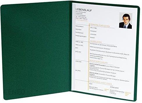 Amazon Teczka Na Dokumenty Aplikacyjne 2 Częściowy Z 1 Szyna Zaciskowa Pojemność 30 Arkuszy Karton Z Manili Lnu 400 G Nature Future Din A4 Zielo