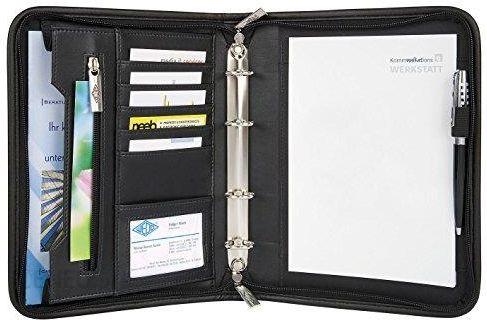 Amazon Wedo Elegance 585101 Teczka Konferencyjna Sztuczna Skóra Nylon Mechanizm Z 4 Kółkami Zamek Błyskawiczny Wiele Kieszeni Format A5 Czarna