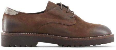 988bd017e7990 Made in Italia skórzane buty damskie pantofle oxfordy brązowy 36