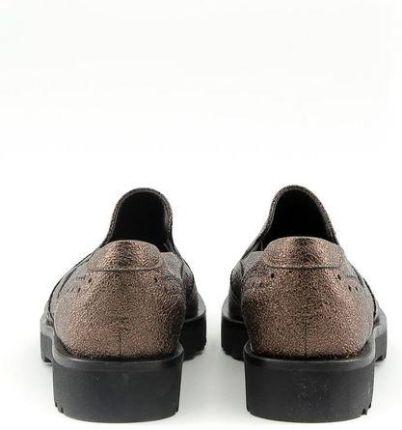 f9fb1ccfdf9a0 Made in Italia skórzane buty damskie pantofle lordsy brązowy 41