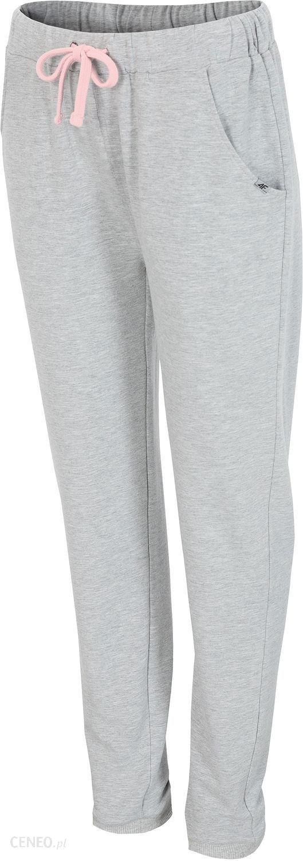 5b4ca99170 Spodnie dresowe damskie H4Z18 SPDD001 4F (chłodny jasny szary melanż) -  zdjęcie 1