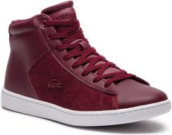 2fb2598cb9f4d Sneakersy LACOSTE - Carnaby Evo Mid 318 1 Spw 7-36SPW00172H2 Burg/Wht  eobuwie