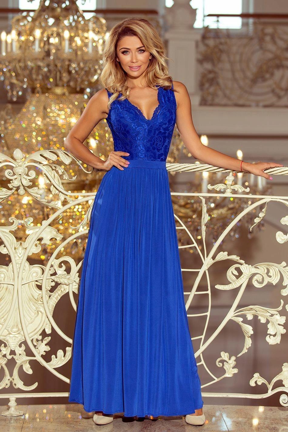 b76e941795 Piękna Długa Sukienka Z Koronkową Górą- chaber XL - Ceny i opinie ...