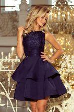 8dd7707bea Kobieca sukienka z koronkową górą wesele Granat XL