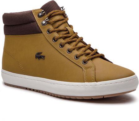bcfc8a7e8 Sneakersy LACOSTE - Straightset Insulac 3181 Cam 7-36CAM006451W Tan/Dk Brw  eobuwie. Buty sportowe męskie LacosteSneakersy LACOSTE ...