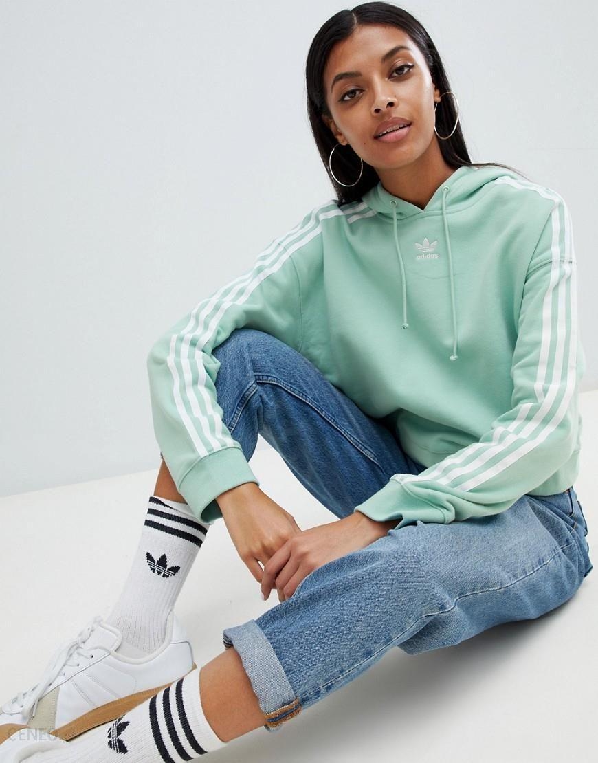 adidas originals Cropped Hoodie Zielony kup i oferty
