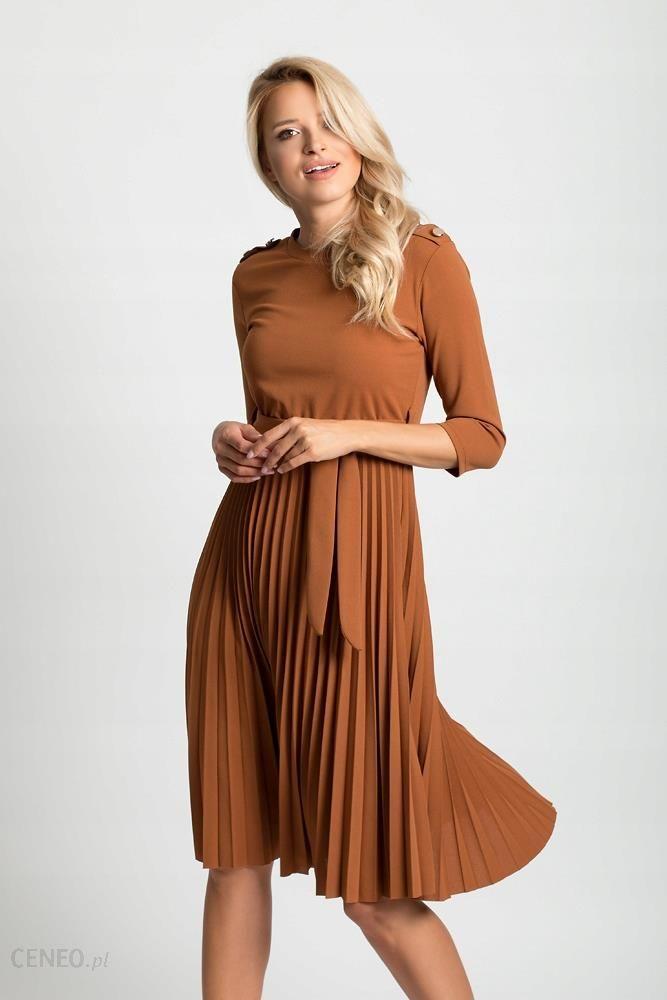 ff32fc601f3f99 Plisowana sukienka koktajlowa pasek F69 Kolory - Ceny i opinie ...
