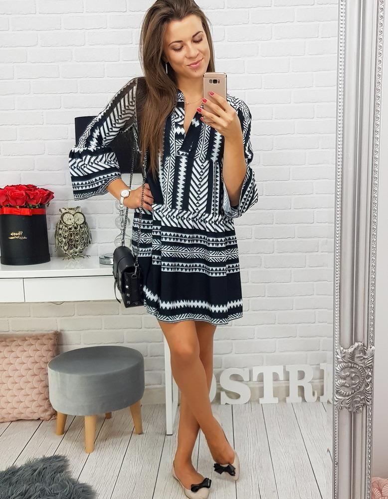43131eadbc Dstreet Sukienka LUISA we wzory czarno-biała (ey0387) - Ceny i ...