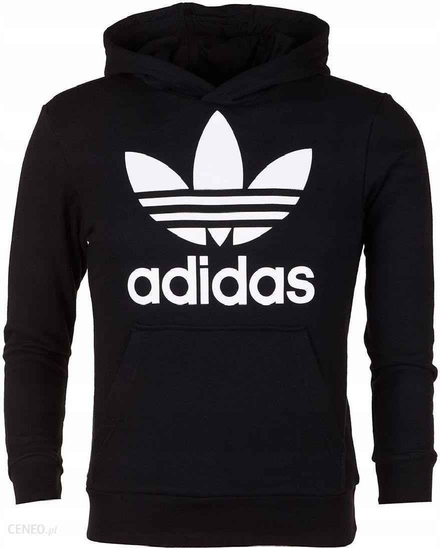 bluza adidas czarna 140 dziewczynka