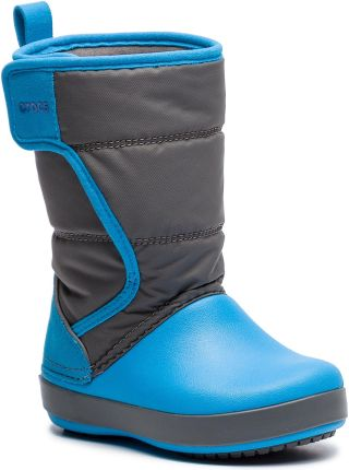 6a6e9e04fa91 Śniegowce CROCS - Logepoint Snow Boot K 204660 Siate Grey Ocean eobuwie