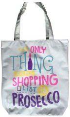53094242f0bec Bawełniana torba z podszewką i zamkiem - Prosecco - Ceny i opinie ...