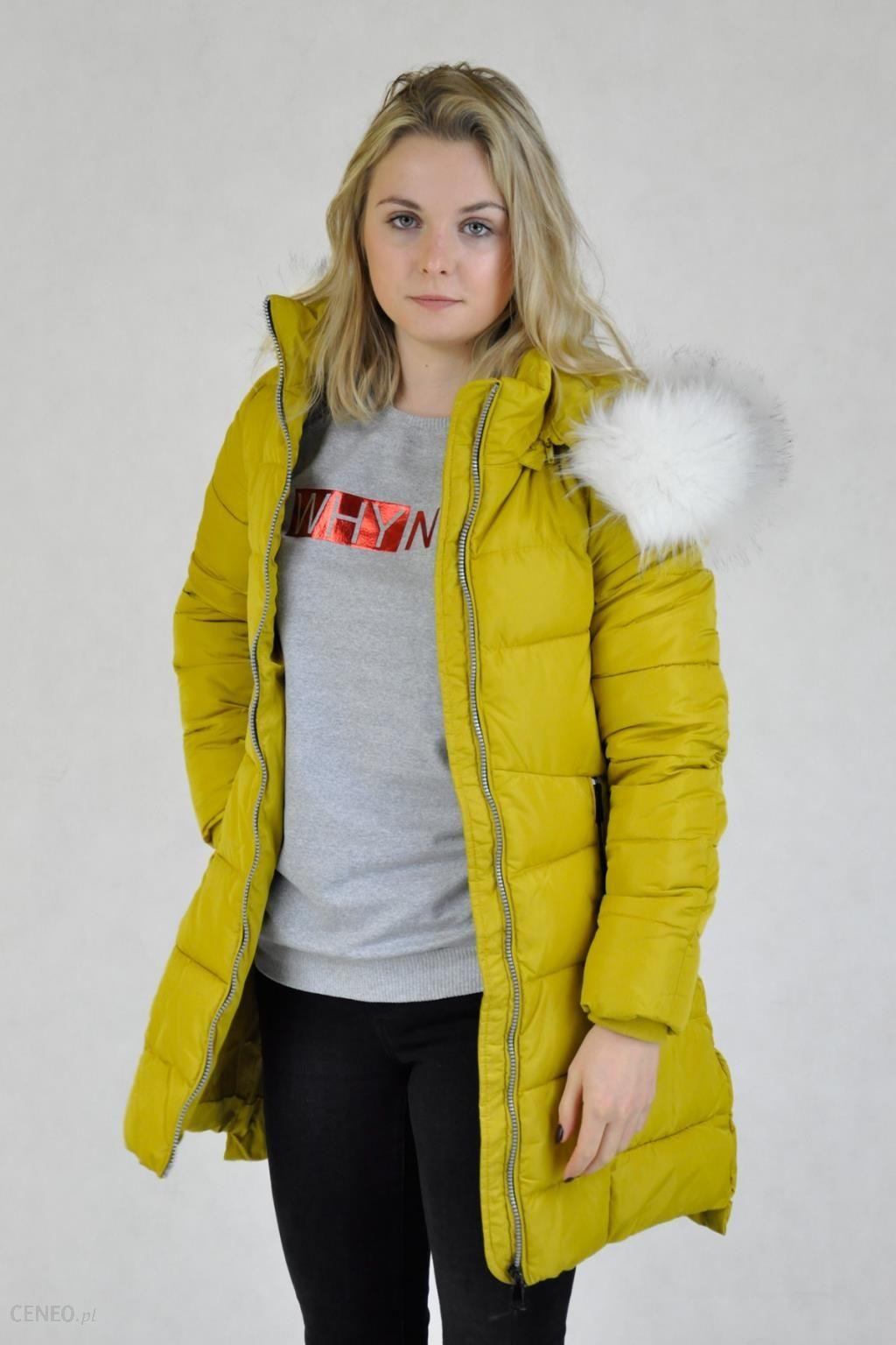 0d418e5a68abaf Żółta długa kurtka D-Stone z kapturem - Ceny i opinie - Ceneo.pl