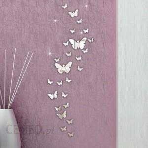 Motyle Lustrzane Ozdoba Na ściane Naklejka Srebrna 1 Opinie I Atrakcyjne Ceny Na Ceneopl
