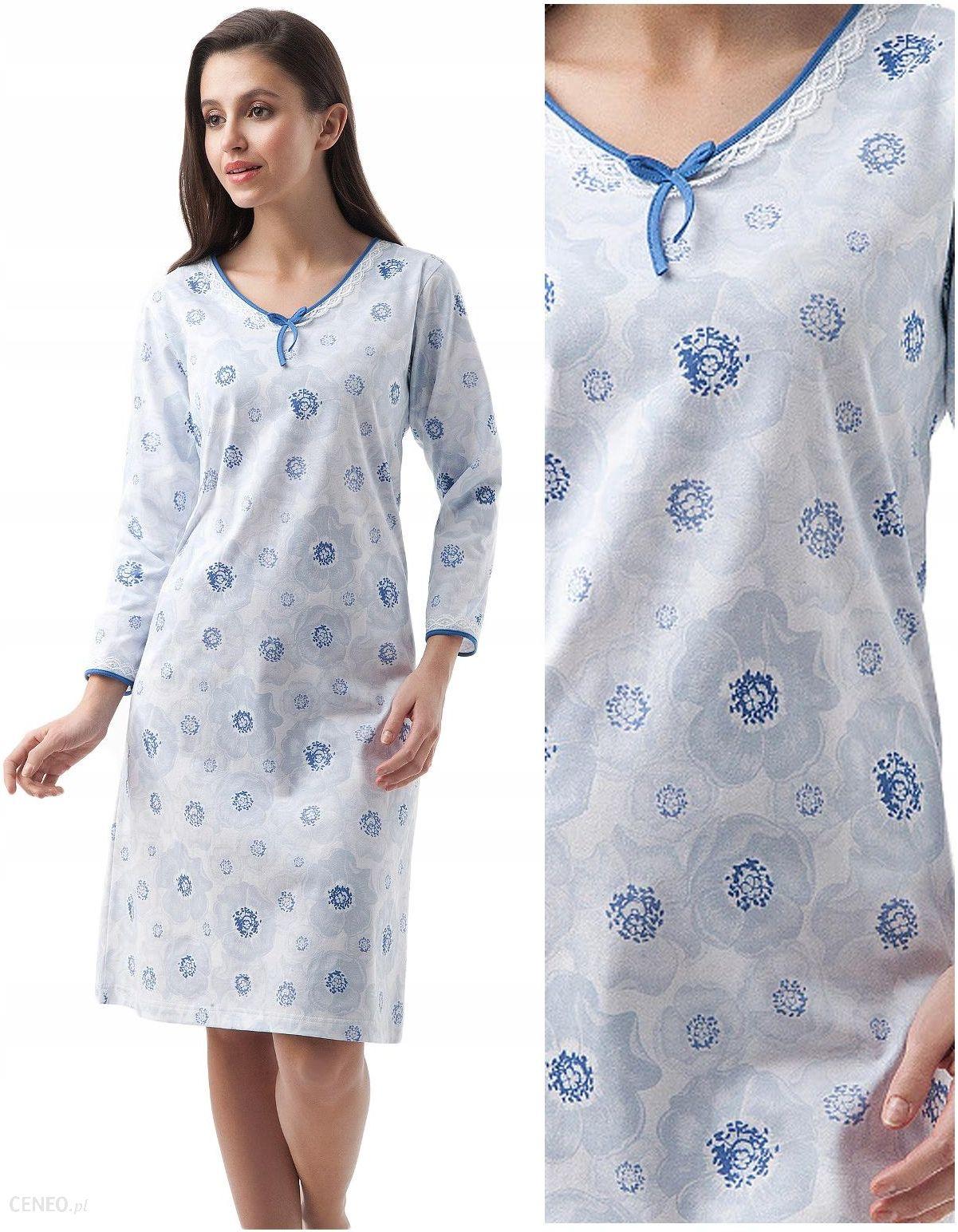Koszula nocna Luna 232 blue kwiaty długa XL 42 Ceny i  TTF3L
