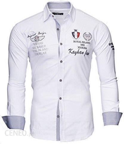 0d761d55f Amazon Kayhan męska koszula z długim rękawem Slim Fit łatwa do prasowania,  super nowoczesna super