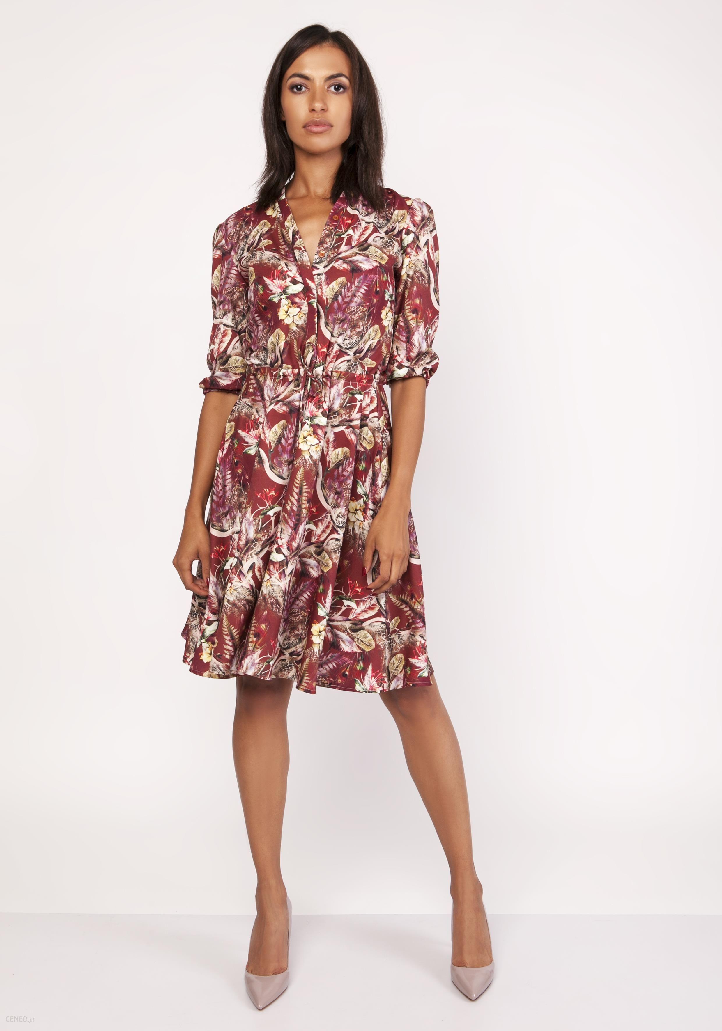 90308d2258 Lanti Uniwersalna sukienka z delikatną stójką