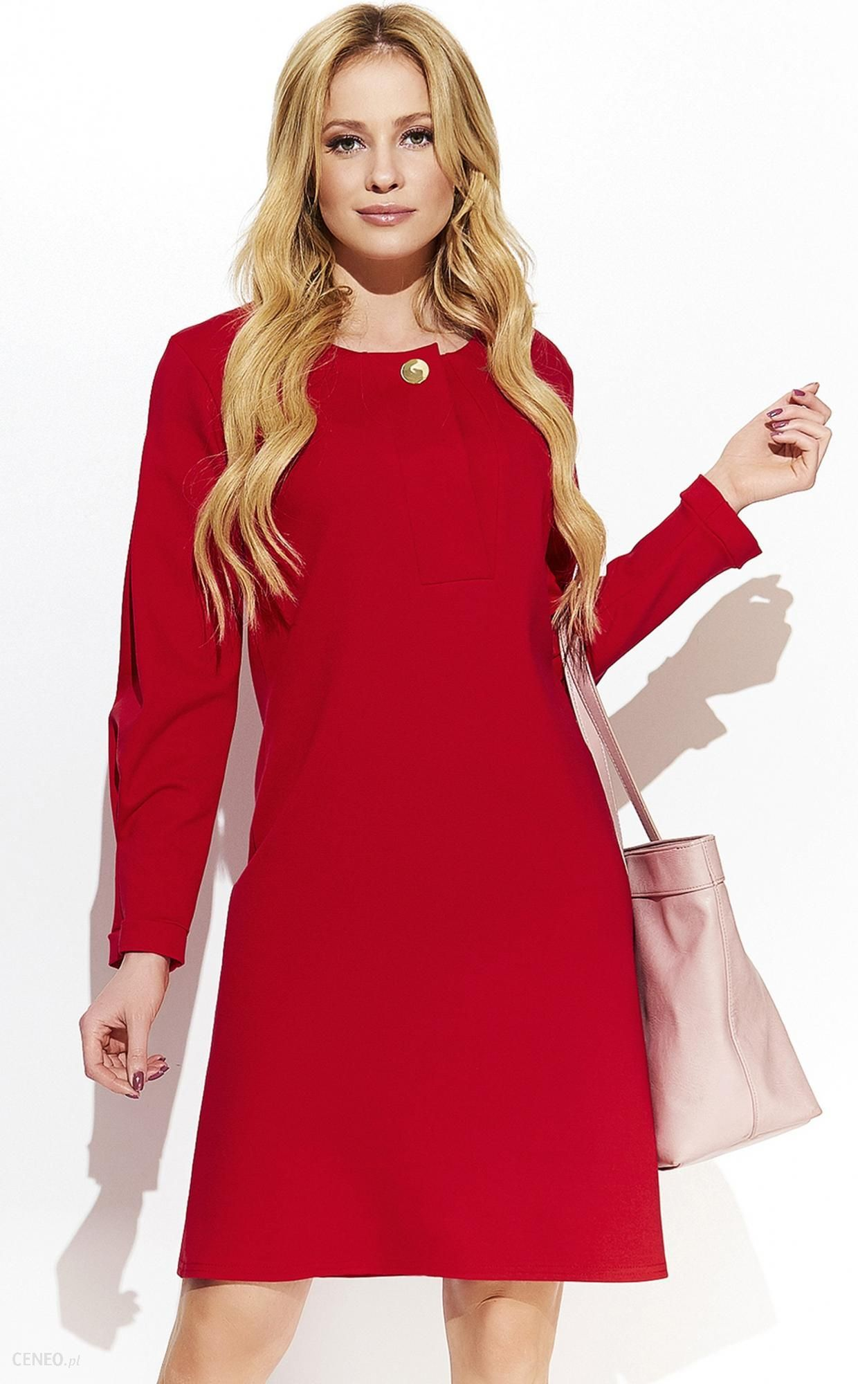 7884960592 Makadamia sukienka damska 44 czerwona - Ceny i opinie - Ceneo.pl