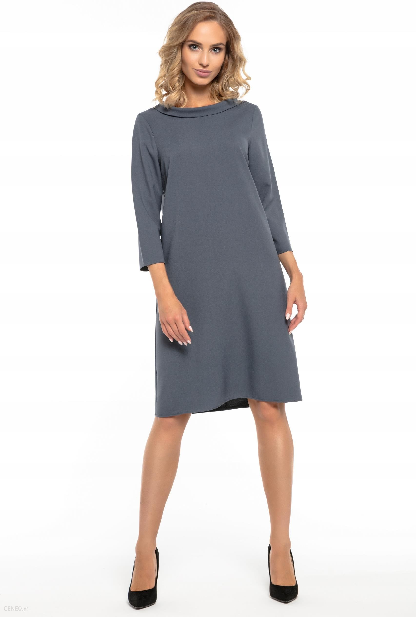 33d8288f2c Tessita Elegancka sukienka z kołnierzem XL (42) - Ceny i opinie ...