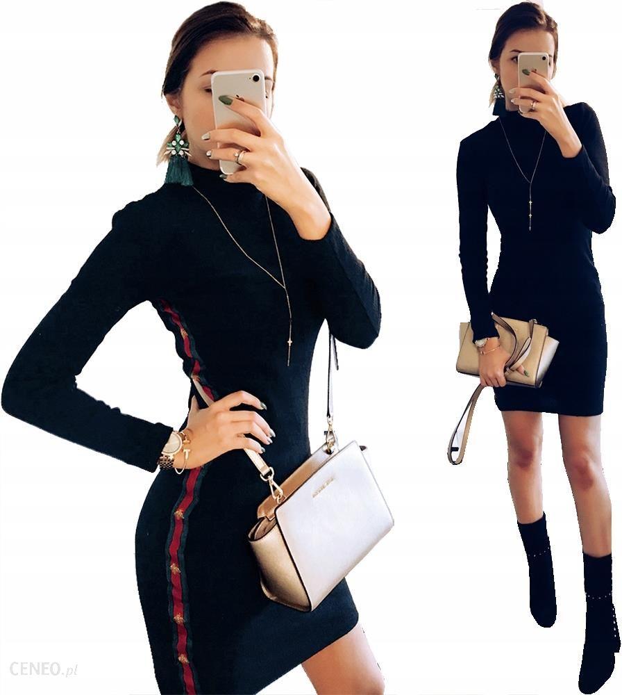 7d27194dfab85 Czarna Dopasowana Sukienka Mini Prążki Gucci P159 - Ceny i opinie ...