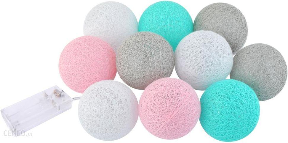 Cotton Balls świecące Kule Lampki 10 Kul Led Ball