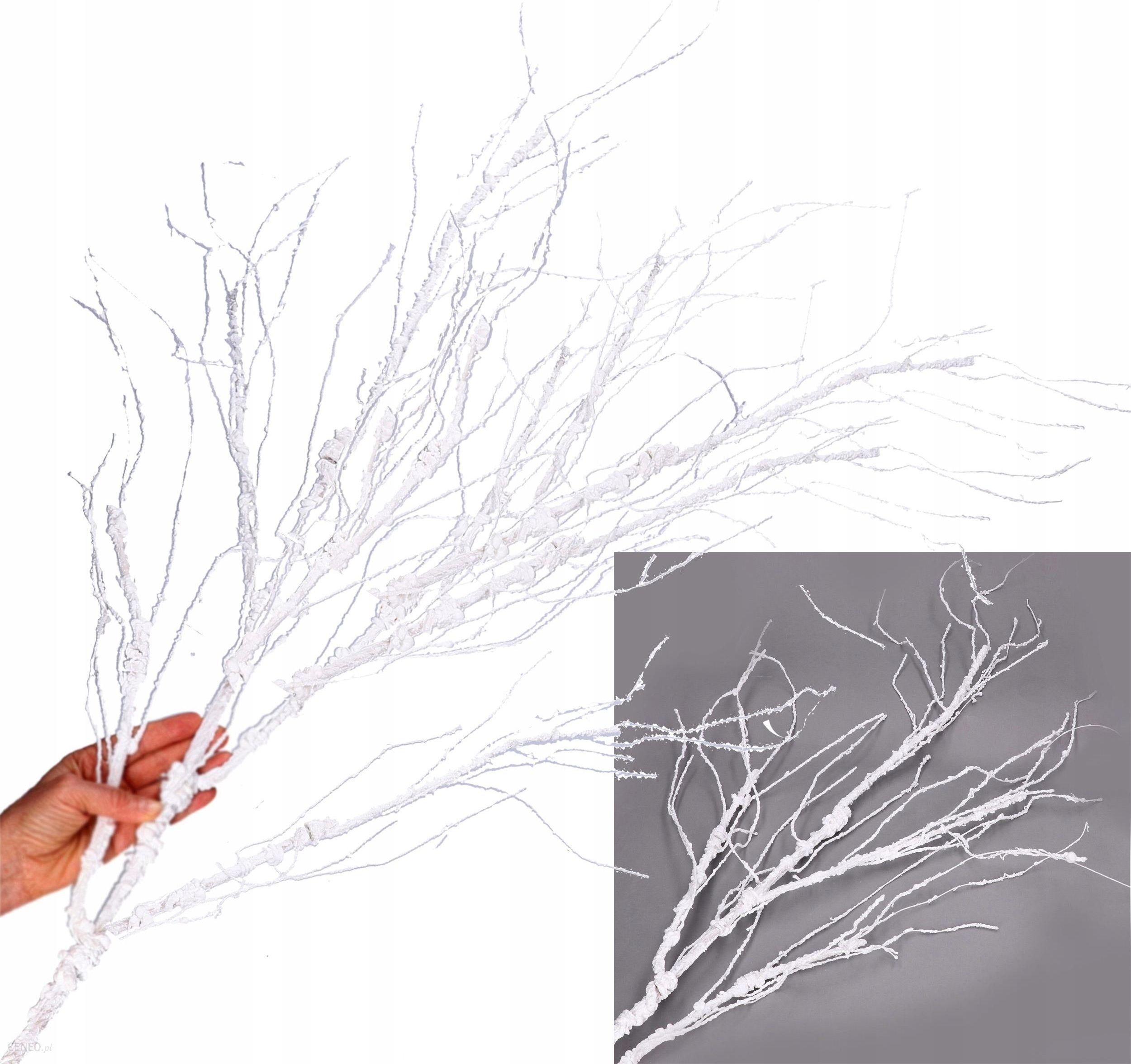 Biała Gałązka śnieg Dekoracja święta Stroik 140cm Opinie I Atrakcyjne Ceny Na Ceneopl