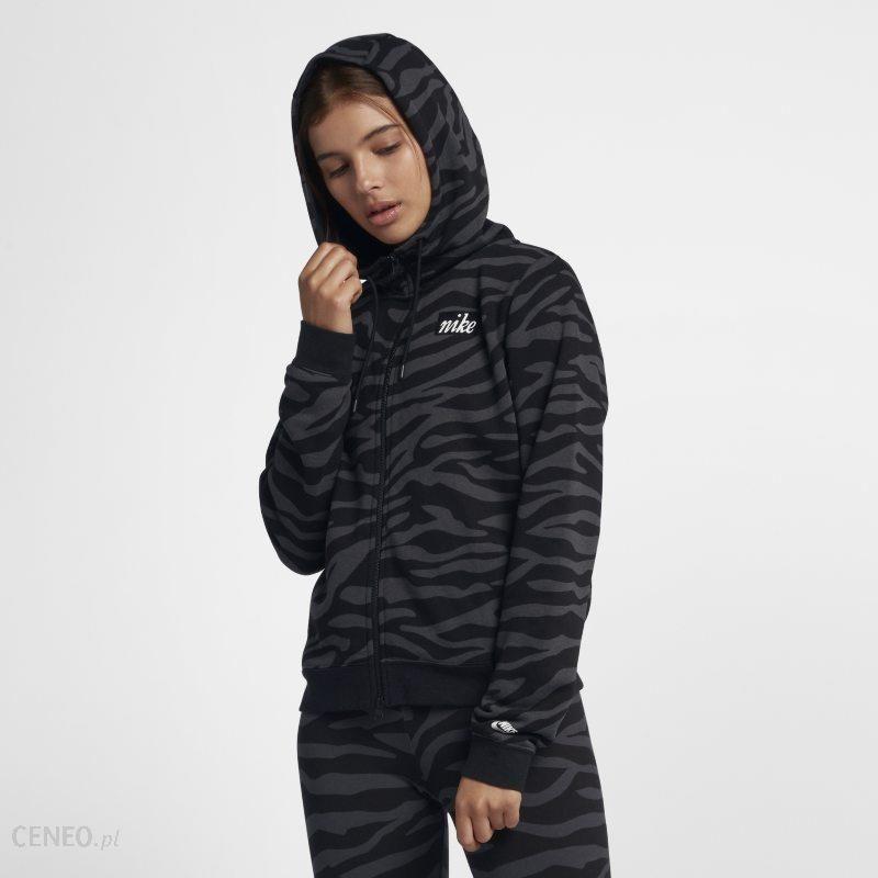 Nike Damska bluza z kapturem i zamkiem na całej długości Nike Sportswear Czerń Ceny i opinie Ceneo.pl