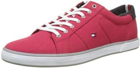 bcac60185683e Amazon Tommy Hilfiger męski Iconic Long Lace Sneaker, kolor: czerwony  (Tango Red 611