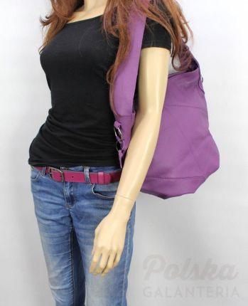 7bf086e84f817 Torebka Skórzana MAGRE (PL) Shopper Bag ARLETA Skóra Naturalna FIOLETOWY