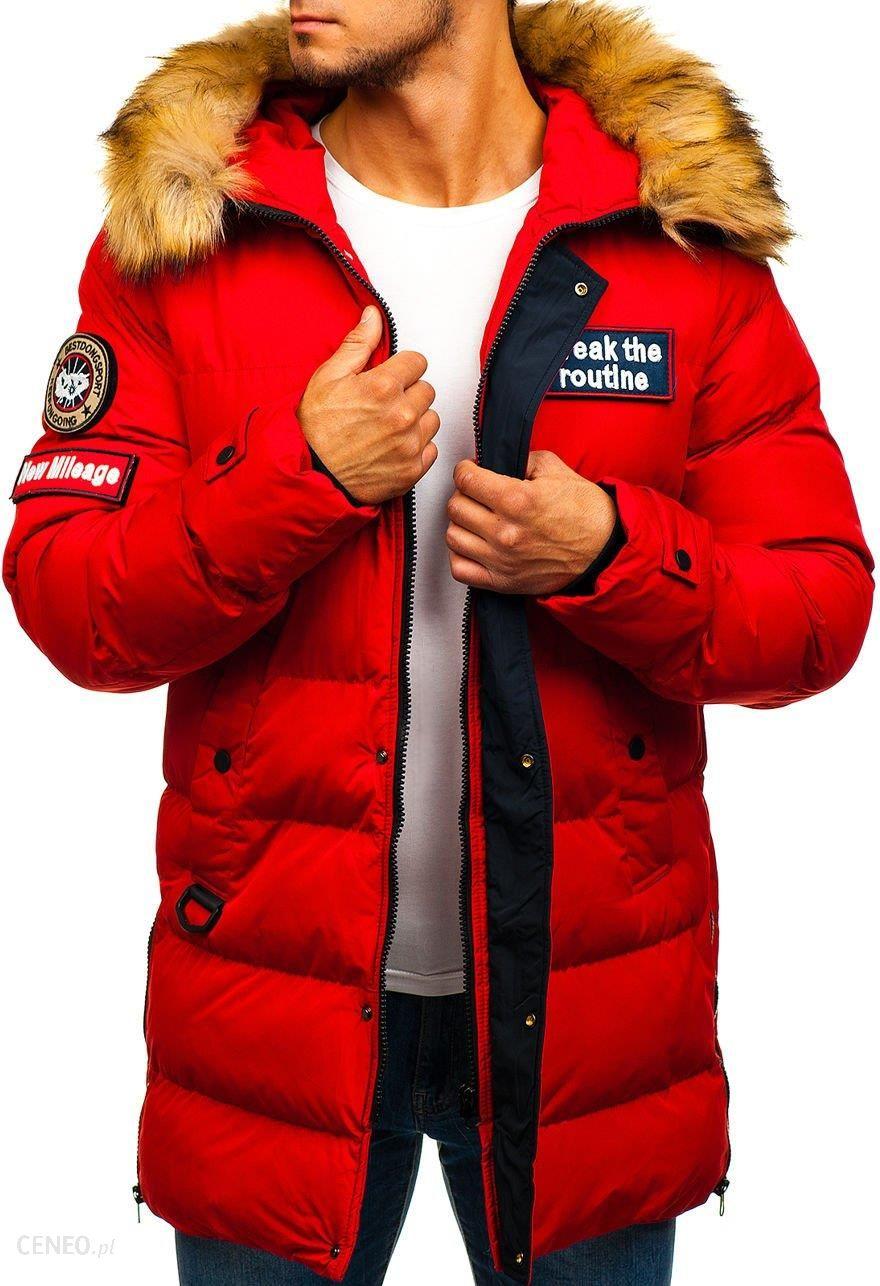 3d1de7f8fea23 Kurtka męska zimowa parka czerwona Denley 5315 - Ceny i opinie ...