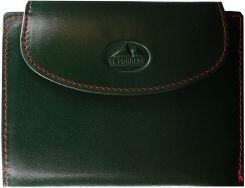a7e37acd504c0 Portfel damski skórzany EL FORREST 881 14 Zielony / Czerwony - Zielony /  Czerwony