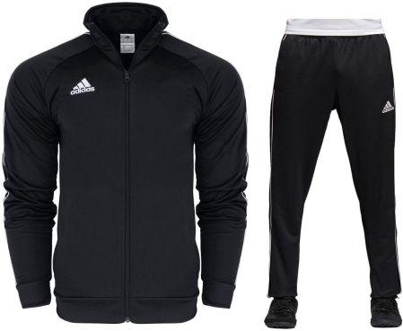 b54b22c9d084d4 Adidas Dres Kompletny Męski Spodnie Bluza Core M Allegro