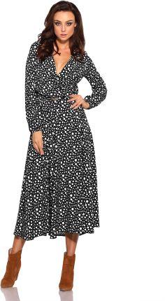 cd5f4c4e2c Lemoniade Kopertowa w Kropki Midi Sukienka z Paskiem